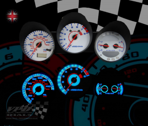 White Dial Kit Speedometer Vehicle Customizing Gauges